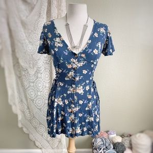 BAND OF GYPSIES | Floral Button Down Mini Dress